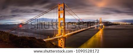 San Francisco Golden Gate Bridge in fog background . Traffic, cars commuters people urban lifestyle  Stock photo © Maridav