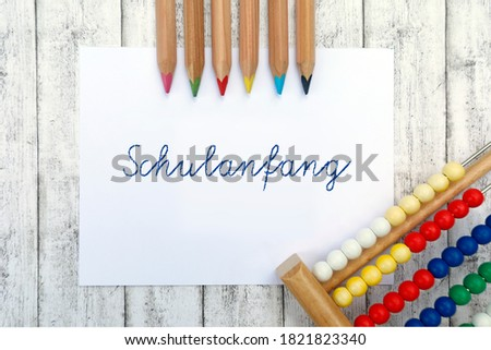 Colored Letters Schulanfang Stock photo © limbi007