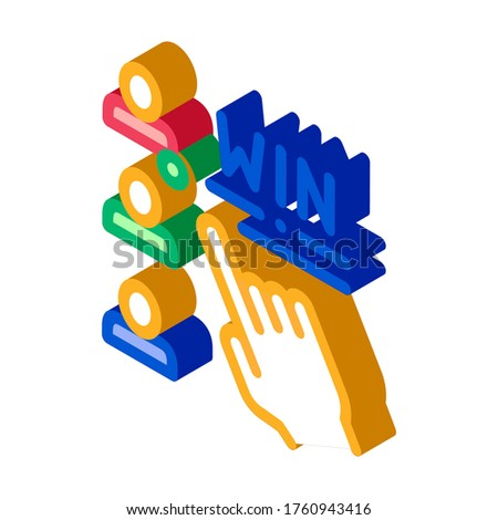 Choose Winner Betting And Gambling isometric icon vector illustration Stock photo © pikepicture