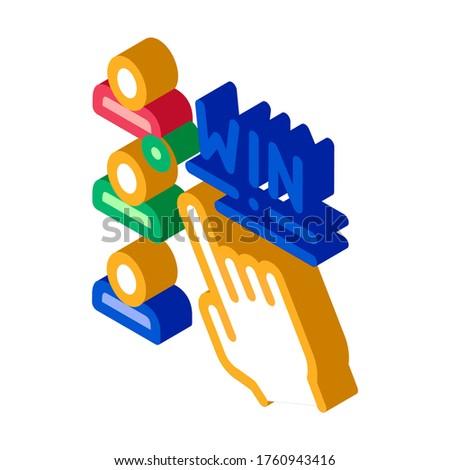 Választ nyertes fogadás hazárdjáték izometrikus ikon Stock fotó © pikepicture