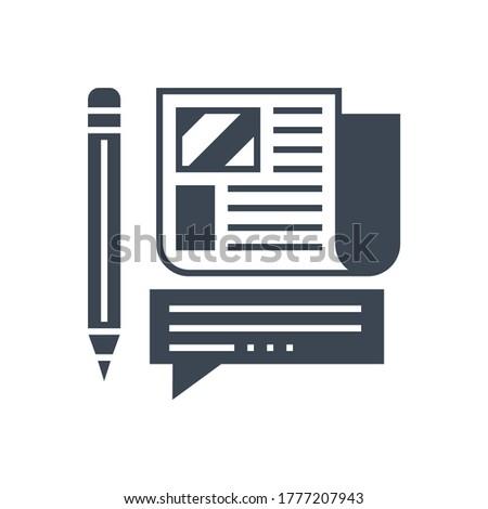 Press Release Vector Glyph Icon Stock photo © smoki