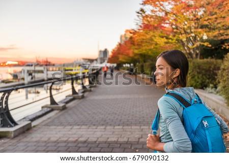 Vancouver város városi életstílus emberek kikötő Stock fotó © Maridav