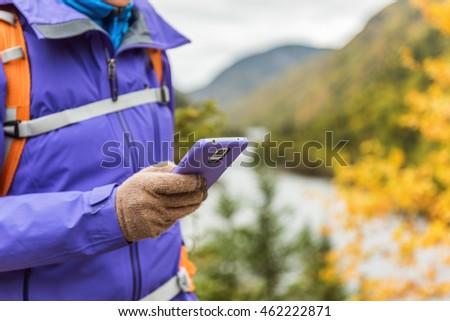 Osoby turystyka charakter smartphone app ekran dotykowy Zdjęcia stock © Maridav