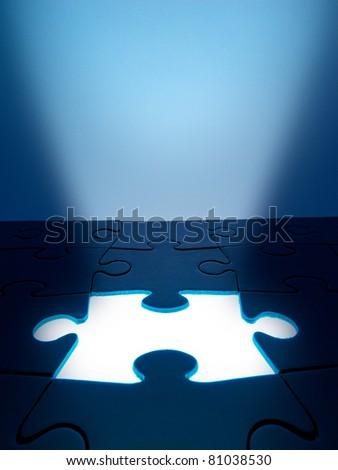 witte · licht · business · Blauw · puzzel - stockfoto © scornejor