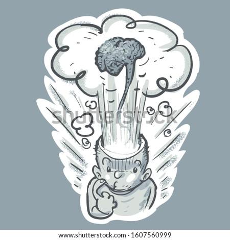 criador · idéias · bomba · cabeça · ilustração · branco - foto stock © dvarg