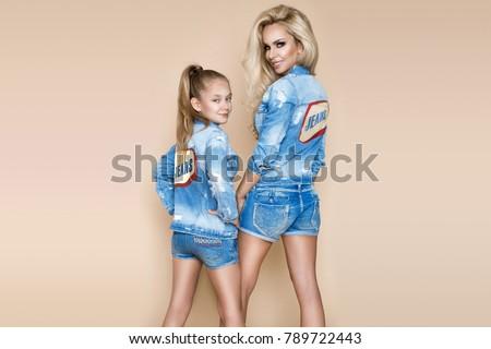 Photo stock: Deux · sexy · beauté · jeunes · femmes · isolé · visage