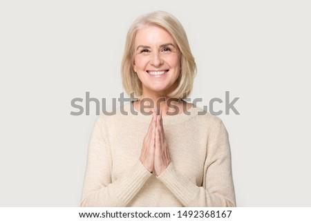 Glücklich aufrichtig Frau lächelnd Erfolg Frau Gesicht Stock foto © gromovataya