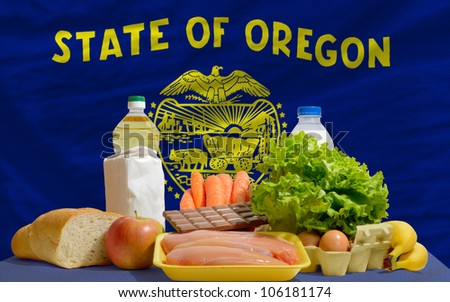 complete waved flag of american state of oregon for background   Stock photo © vepar5