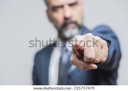 erkek · yürütme · işaret · müşteri · hizmetleri · ajan · kamera - stok fotoğraf © stockyimages