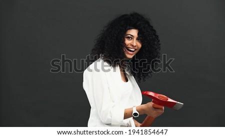 Ispanico donna ax modello bellezza Foto d'archivio © pxhidalgo