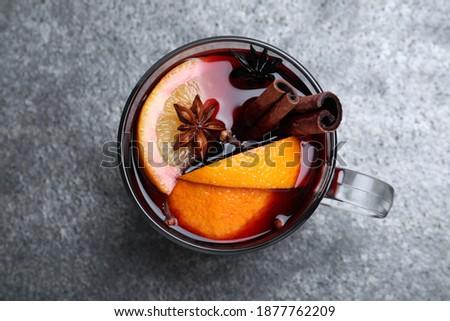 karácsonyi · étel · dekoráció · narancs · fahéj · csillámlás · fenyő - stock fotó © juniart