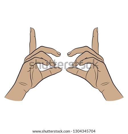 Dwa ręce dystans odizolowany biały Zdjęcia stock © Nejron