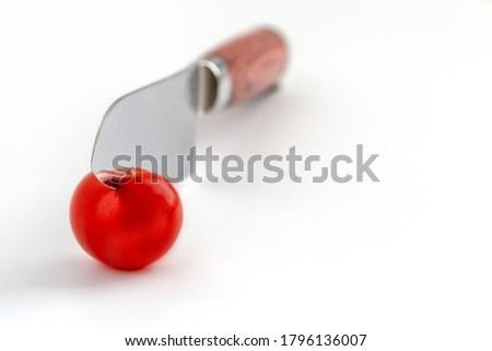 vegetable knife on white background stock photo © ozaiachin