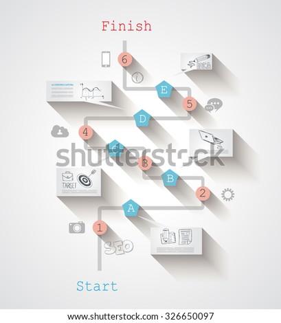 projet · évolution · chronologie · modèle · spirale · modèle - photo stock © davidarts