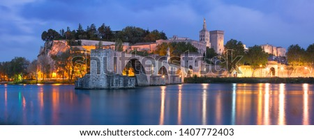 Pont d'Avignon, is a famous medieval bridge in the town of Avign Stock photo © meinzahn