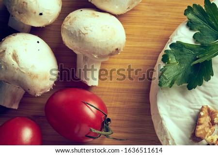 Stock fotó: Gombák · gomba · asztal · étel · természet · otthon