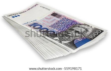 Bos bankbiljetten 1000 geïsoleerd witte Stockfoto © smuki