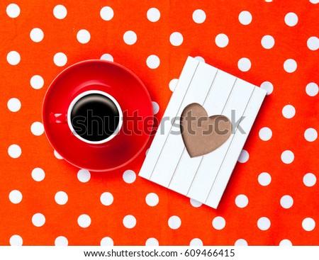 Foto copo café bonitinho cartão postal maravilhoso Foto stock © Massonforstock