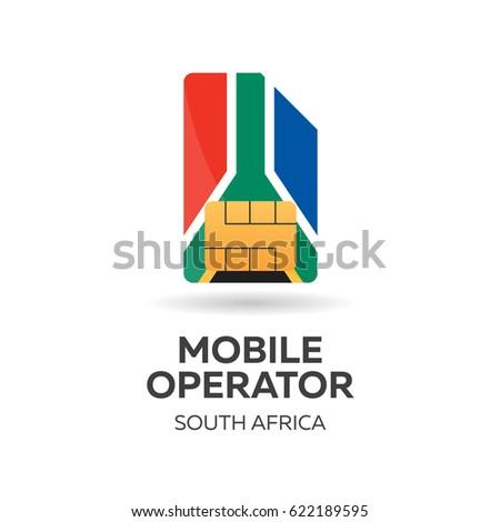 Dél Afrika mobil kezelő kártya zászló Stock fotó © Leo_Edition