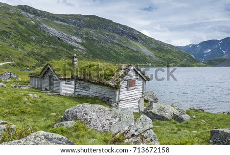 old fairytale like house of wood with chimney of stacked slate   Stock photo © compuinfoto
