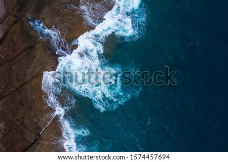 Stock photo: Top view of a deserted coast. Rocky shore of the island of Tener