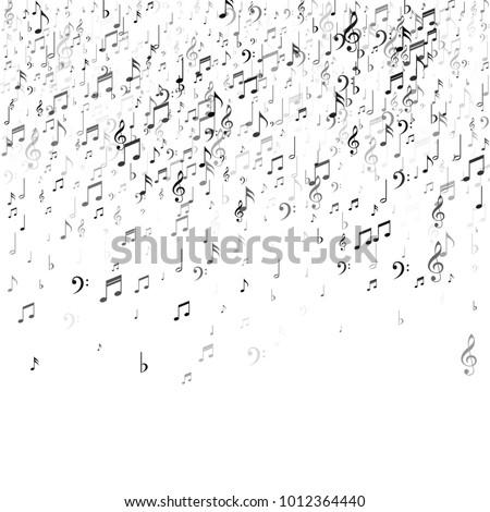 Stock fotó: Zene · illusztráció · zuhan · jegyzetek · fehér · vektor