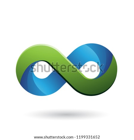 Infinity Symbol with Blue and Green Color Tints Vector Illustrat Stock photo © cidepix