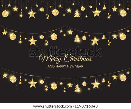 Christmas festival donkere sneeuwvlokken Stockfoto © SArts