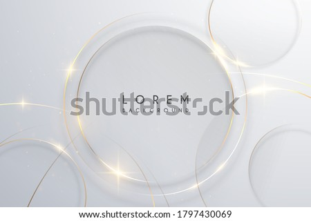 vector abstract background with round frame in centre and hand drawn textured arc shapes it looks l stock photo © user_10144511