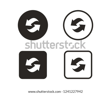 Arrow circular rotation set, Sign rotation horizontally and vert Stock photo © kyryloff