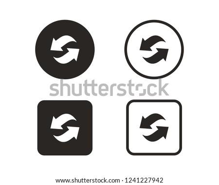 Arrow circular rotation set, Sign rotation horizontally and vert Stock photo © kyryloff