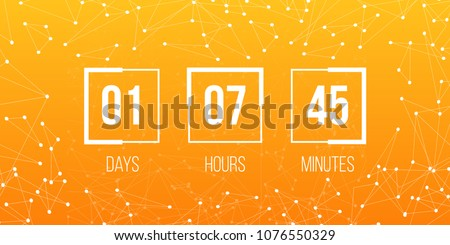 Coming soon, countdown, mechanical scoreboard style digits, numeral Stock photo © MarySan