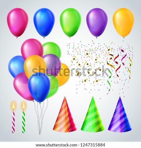誕生日パーティー · デザイン · 要素 · ベクトル · お祝い · 帽子 - ストックフォト © pikepicture