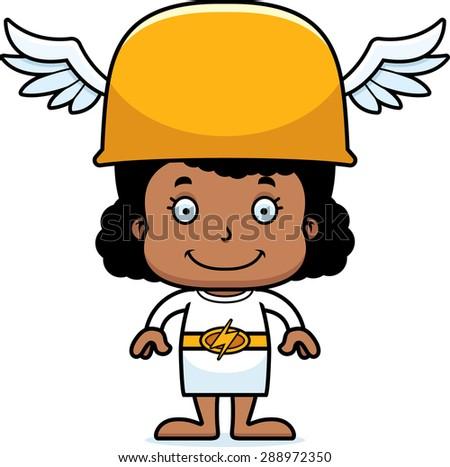Cartoon Smiling Hermes Girl Stock photo © cthoman