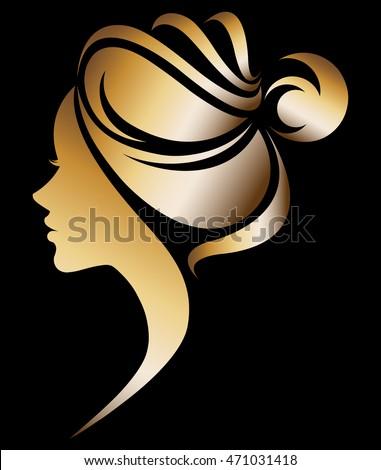 Belle femme chignon coiffure salon de beauté bannière affiche Photo stock © MarySan