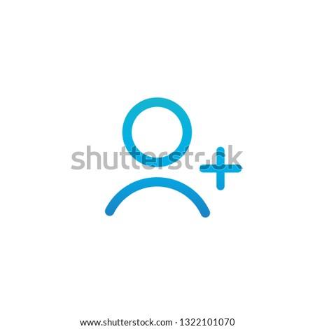 Paars lineair schets persoon icon gebruiker Stockfoto © kyryloff