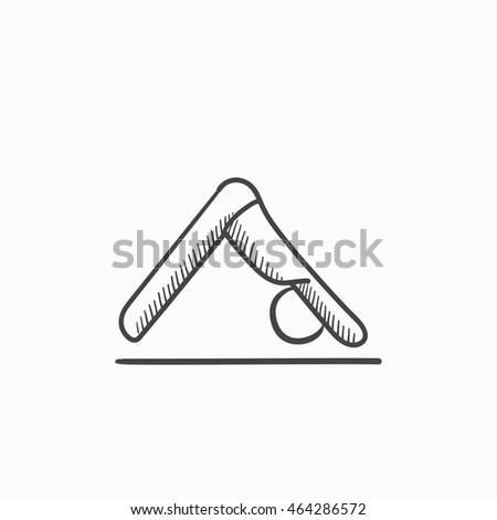 Yoga Downward Facing Dog Pose Icon. Flat Design Isolated Illustration. Stock photo © WaD