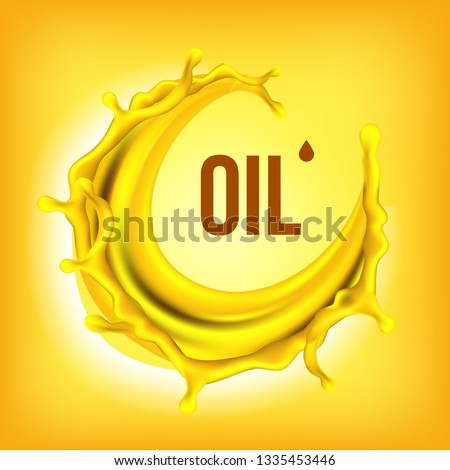 Óleo · salpico · vetor · líquido · cair · ouro - foto stock © pikepicture