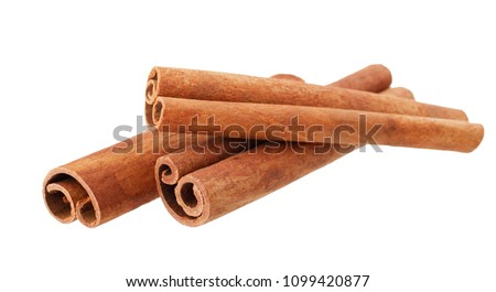 Stock fotó: Cinnamon Sticks Isolated On White Background