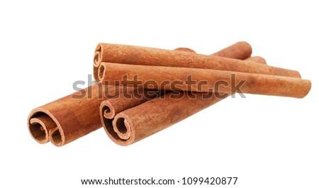 Stock fotó: Fahéj · izolált · fehér · étel · gyógyszer · főzés