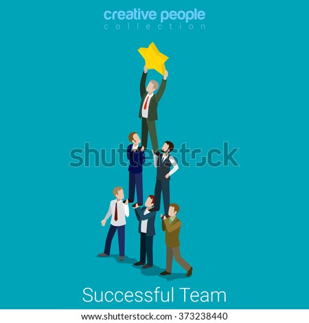 Vector dream team concept creative business illustration with wo Zdjęcia stock © Giraffarte