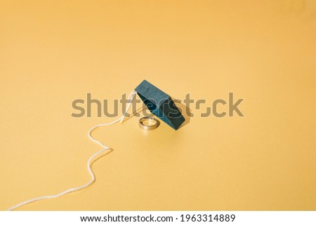 mousetrap and gift box on white background. Isolated 3D illustra Stock photo © ISerg