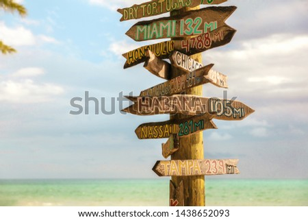 Clave oeste playa turísticos viaje signo Foto stock © Maridav
