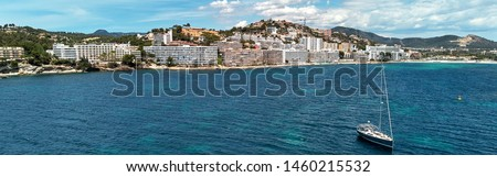 panorámakép · kilátás · turisztikai · üdülőhely · népszerű · mediterrán - stock fotó © amok