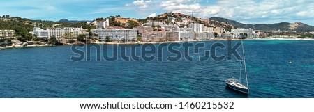Panoramic aerial photo of Santa Ponsa small touristic hillside p Stock photo © amok