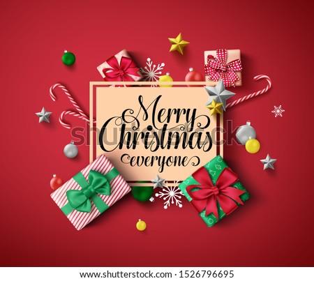 Christmas festive elements like Christmas ball, gift, candy cane Stock photo © ussr