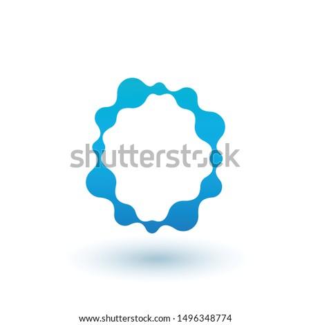 água molecular design de logotipo fluido líquido Foto stock © kyryloff
