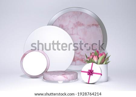 pembe · çiçekler · soyut · sanat · örnek - stok fotoğraf © cienpies