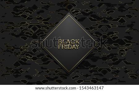 Black friday luxe banner gouden tekst zwarte Stockfoto © Iaroslava
