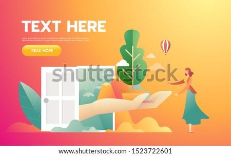Kız turuncu elbise bitki iklim değişikliği Stok fotoğraf © benzoix